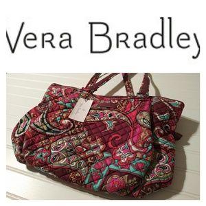 NWT Vera Bradley Iconic Glenna Satchel
